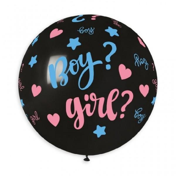 "Palloncino mongolfiera 30""/80 cm Boy? Girl?"