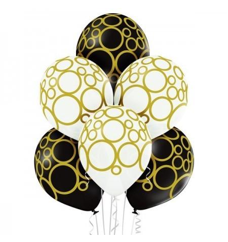 Palloncini Gold circle 6 pz