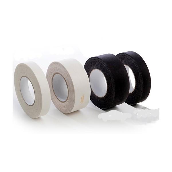 Nastro cotone adesivo nero 2,5cm x 50mt