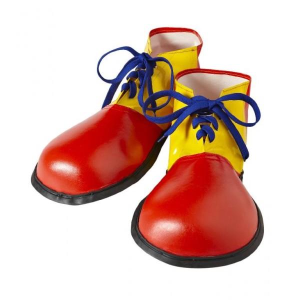 Scarpe clown rosso e giallo