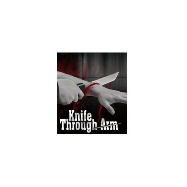 coltello attraverso il braccio