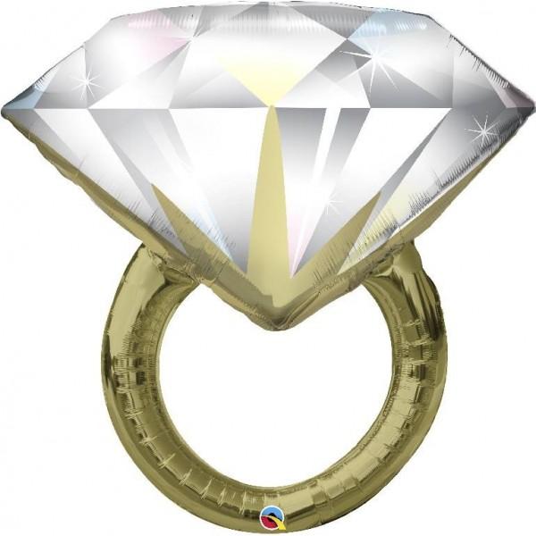 """Supershape 37""""/94 cm anello con diamante"""