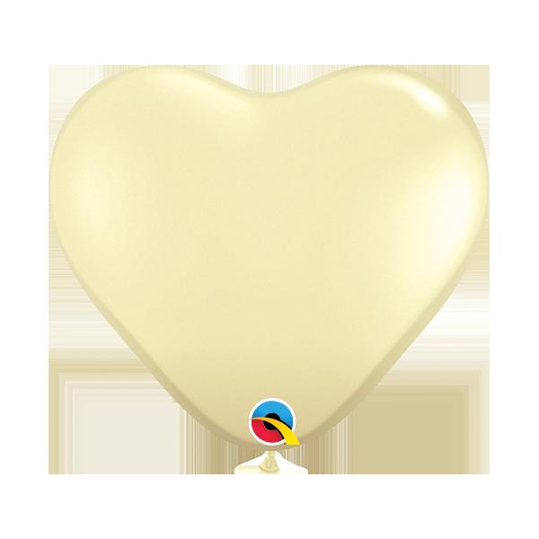 """Palloncino cuore qualatex 5""""/12,5 cm avorio"""