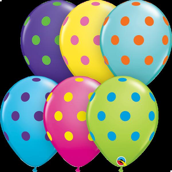 "Palloncino 11""/28 cm Polka Dots Colourful"