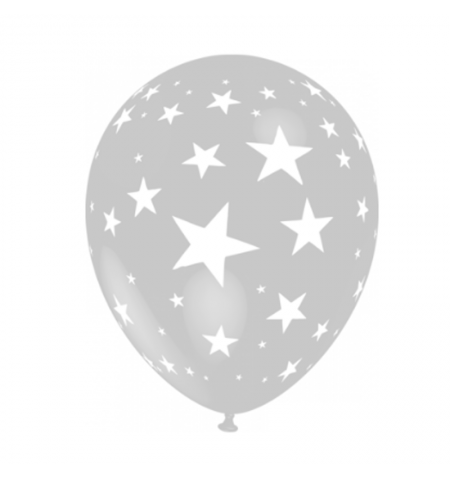 "Palloncino 5""/13cm stelle 25pz."