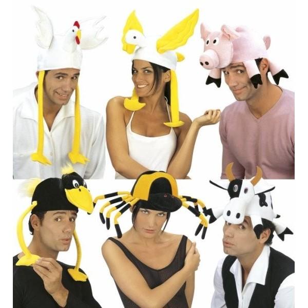 Cappello animali velluto