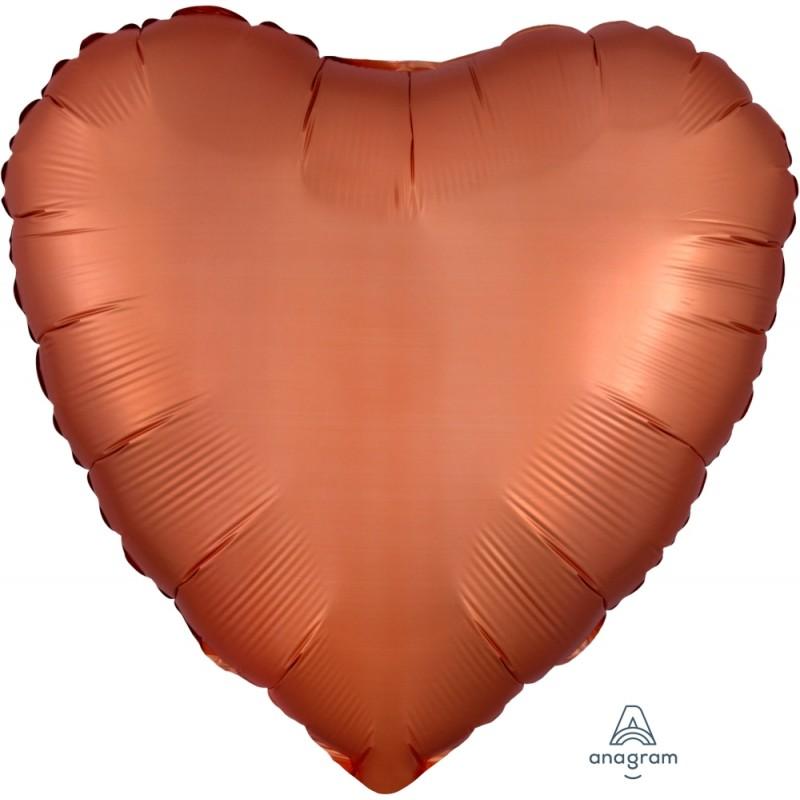 """Shape cuore Satin luxe 19""""/48 cm non confezionato 1pz."""