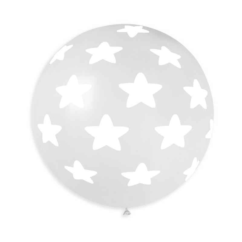 """Palloncino Mongolfiera 30""""/80 cm stelle grandi"""
