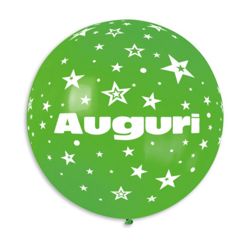 "Palloncino mongolfiera 30""/80 cm Auguri con stelle"