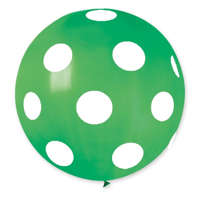 "Palloncino Mongolfiera 30""/80 cm polka dots"