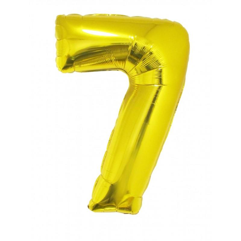 "Numero in mylar 40""/100cm oro"