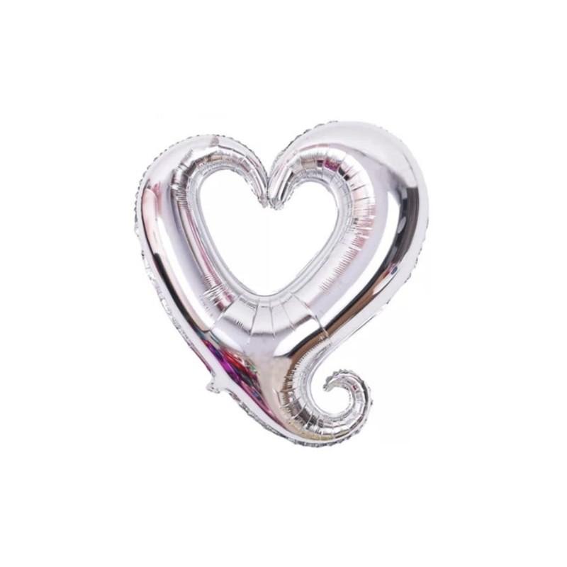Supershape 77 cm cuore con ricciolo