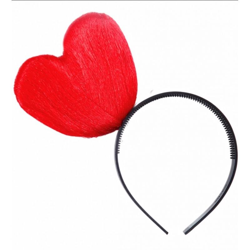 Cerchietto cuore rosso