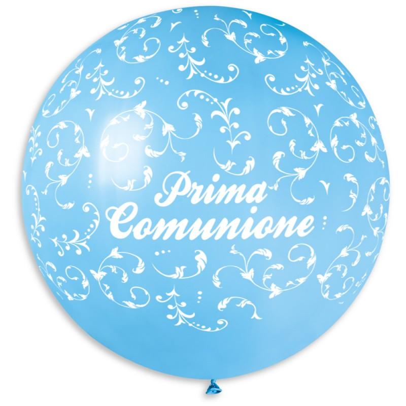 """Palloncino mongolfiera 30""""/80 cm Prima Comunione con filigree"""