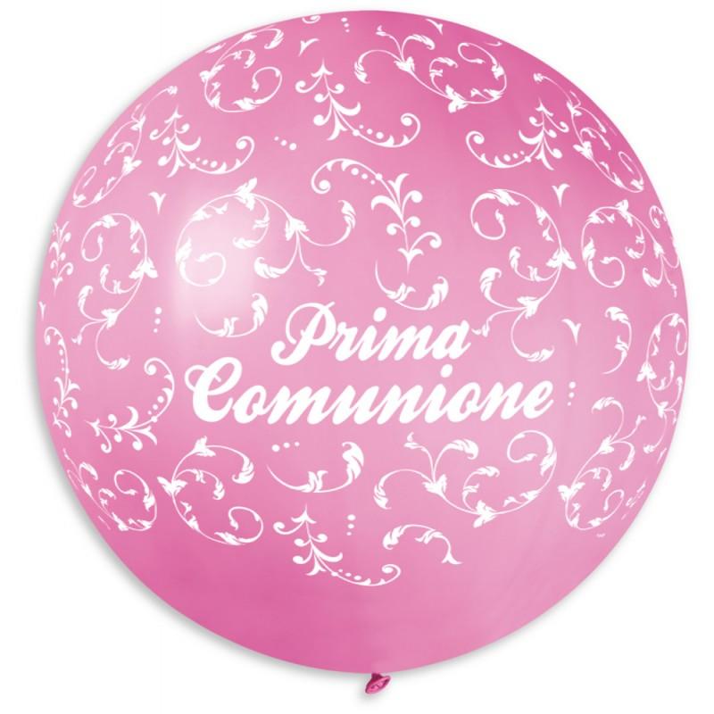 """Palloncino mongolfiera 30""""/80 cm Prima Comunione"""