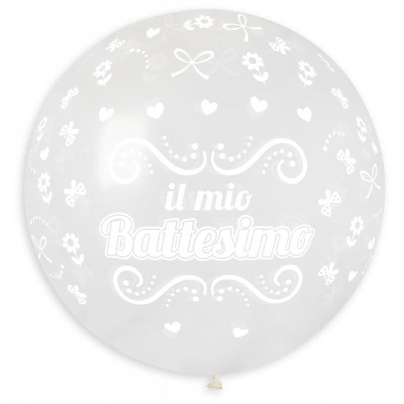"Palloncino Mongolfiera 30""/80 cm Il mio battesimo"