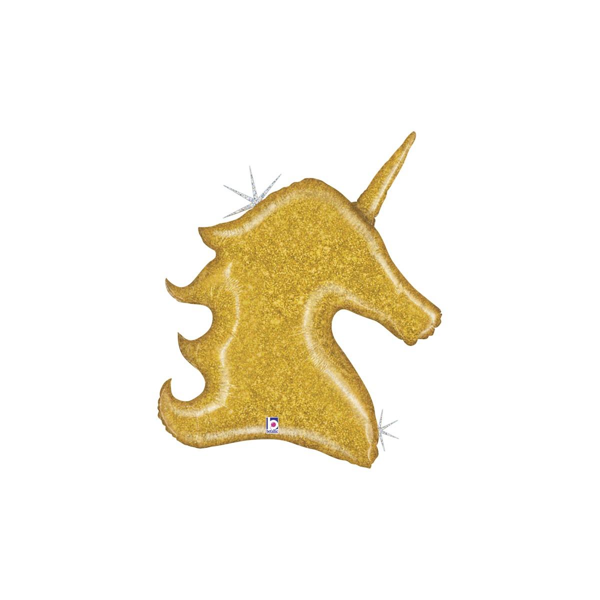 "Supershape 38""/97cm Unicorno Dorato Glitter"