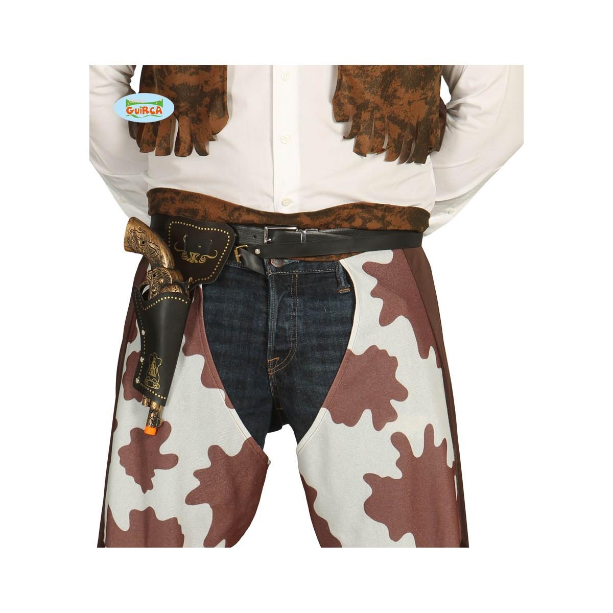 Cinturone cow-boy con fondina e pistola da 29cm