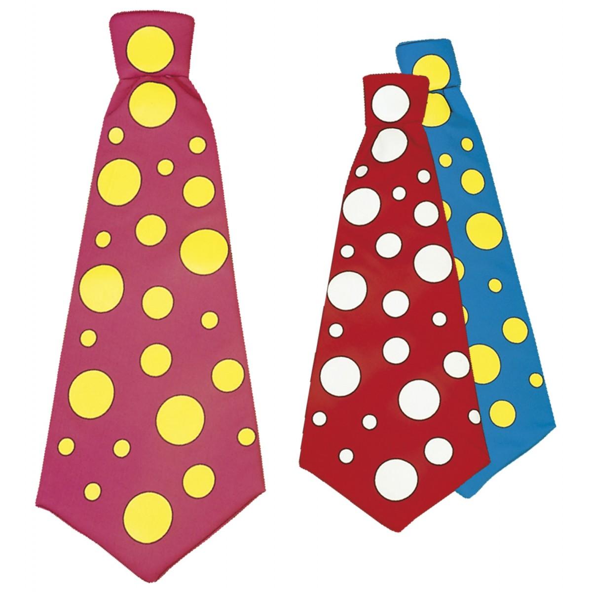 Maxi cravatta a pallini vari colori