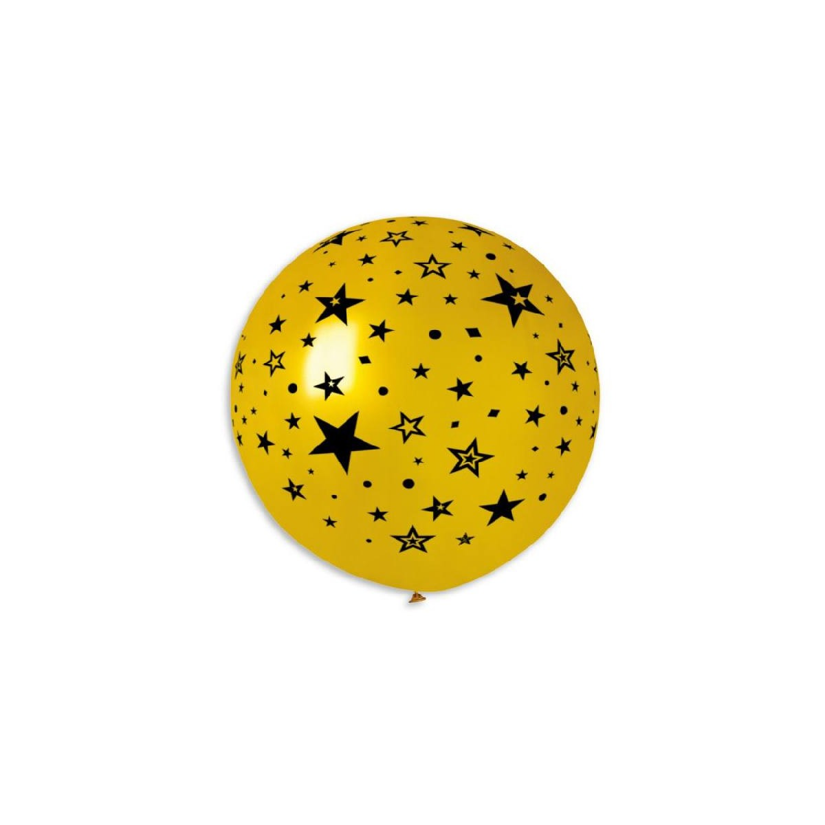 """Palloncino Mongolfiera 30""""/80cm Stelle Su Oro"""