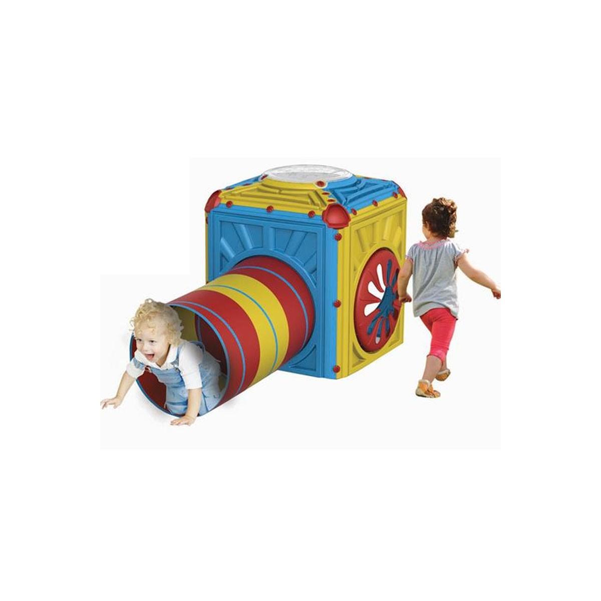 Cubo Attività Con Tunnel Flessibile