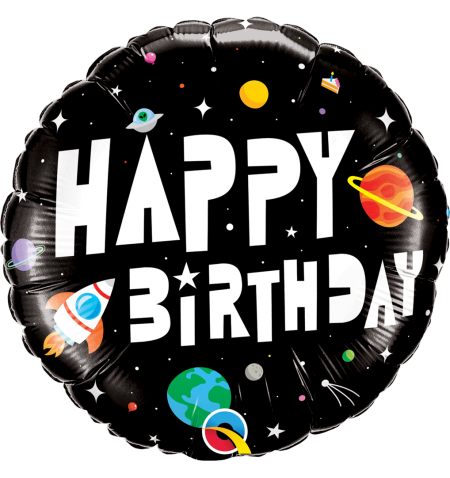 "Shape 18""/45cm Happy Birthday Astronauta"