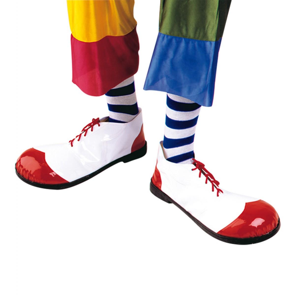 Scarpe clown con suola in gomma