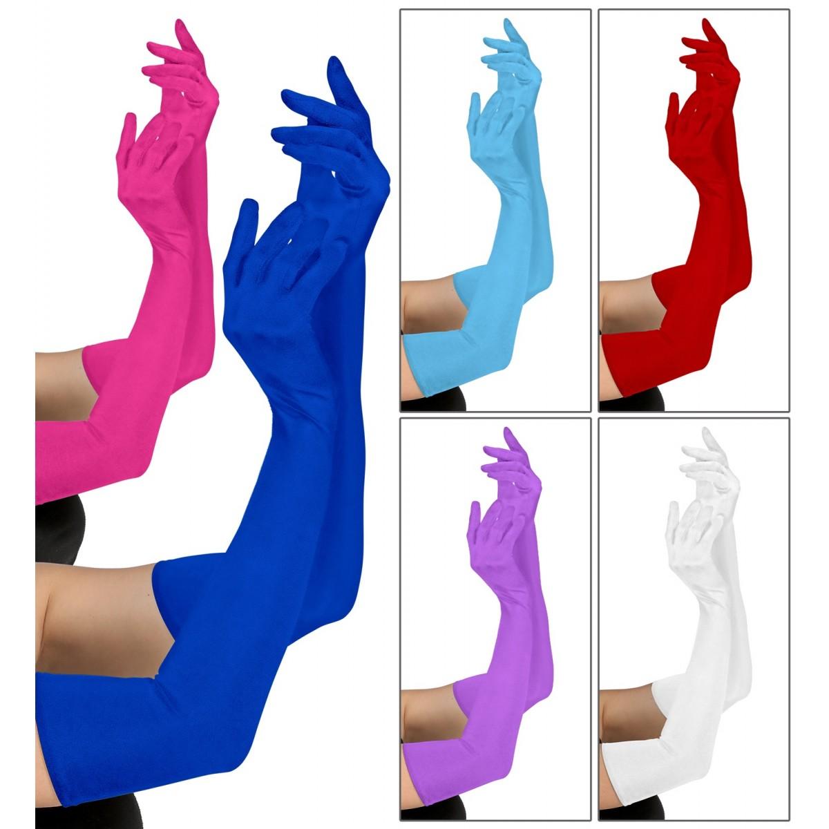 Coppia di guanti lunghi in cotone 60 cm
