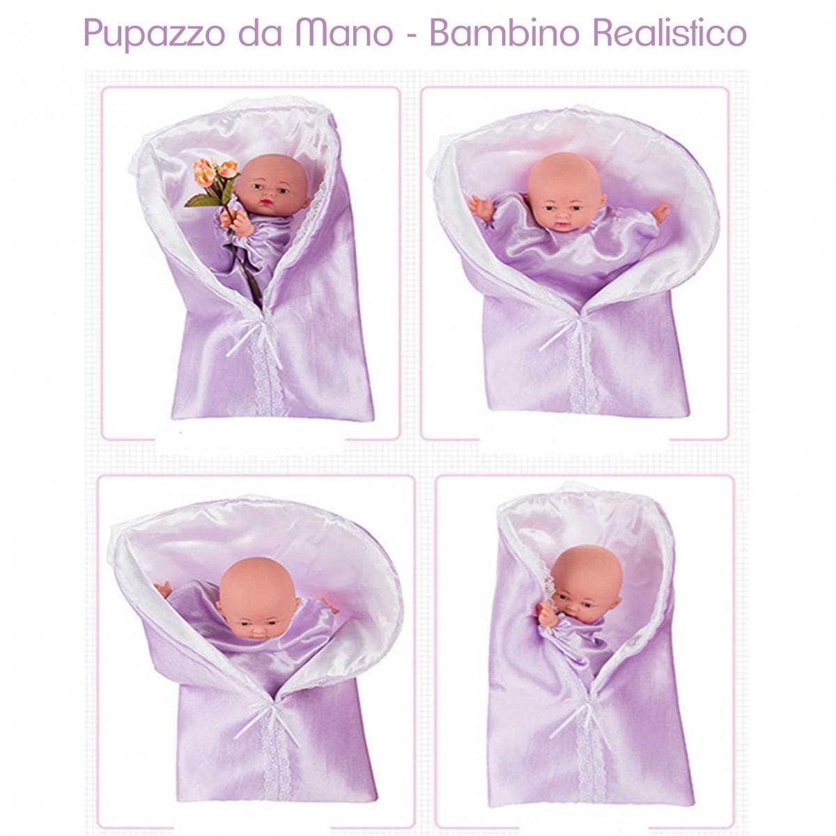 Pupazzo da mano bambino realistico