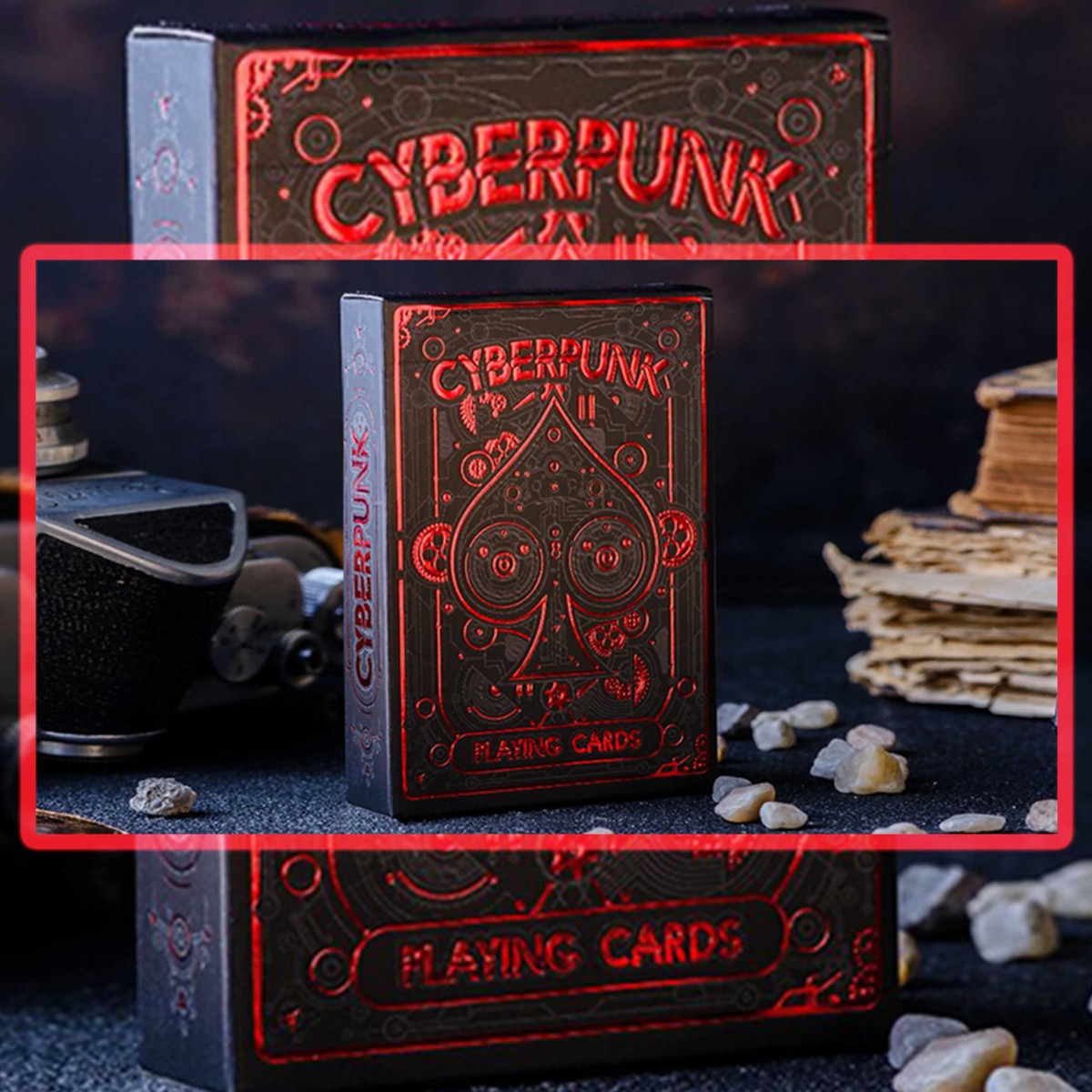 Cyberpunk Red by Elephant Playing Cards