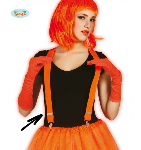 Bretelle fluo arancio