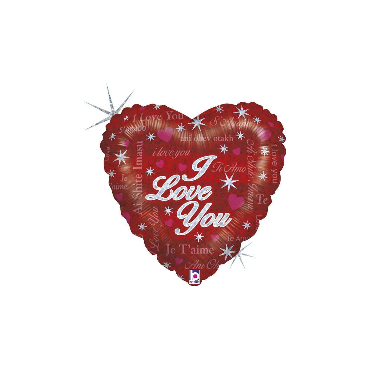 "Shape cuore 18""/45cm I Love you Sparkling love"