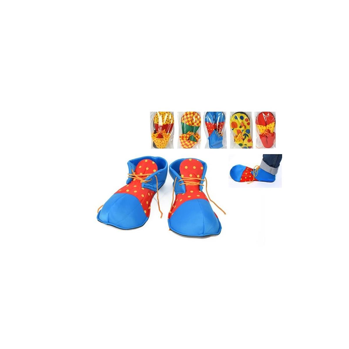Scarpe clown in stoffa