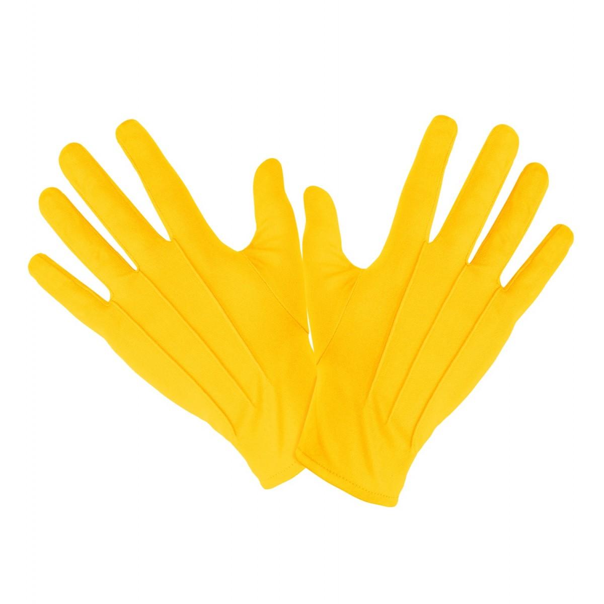 Coppia di guanti in cotone corti