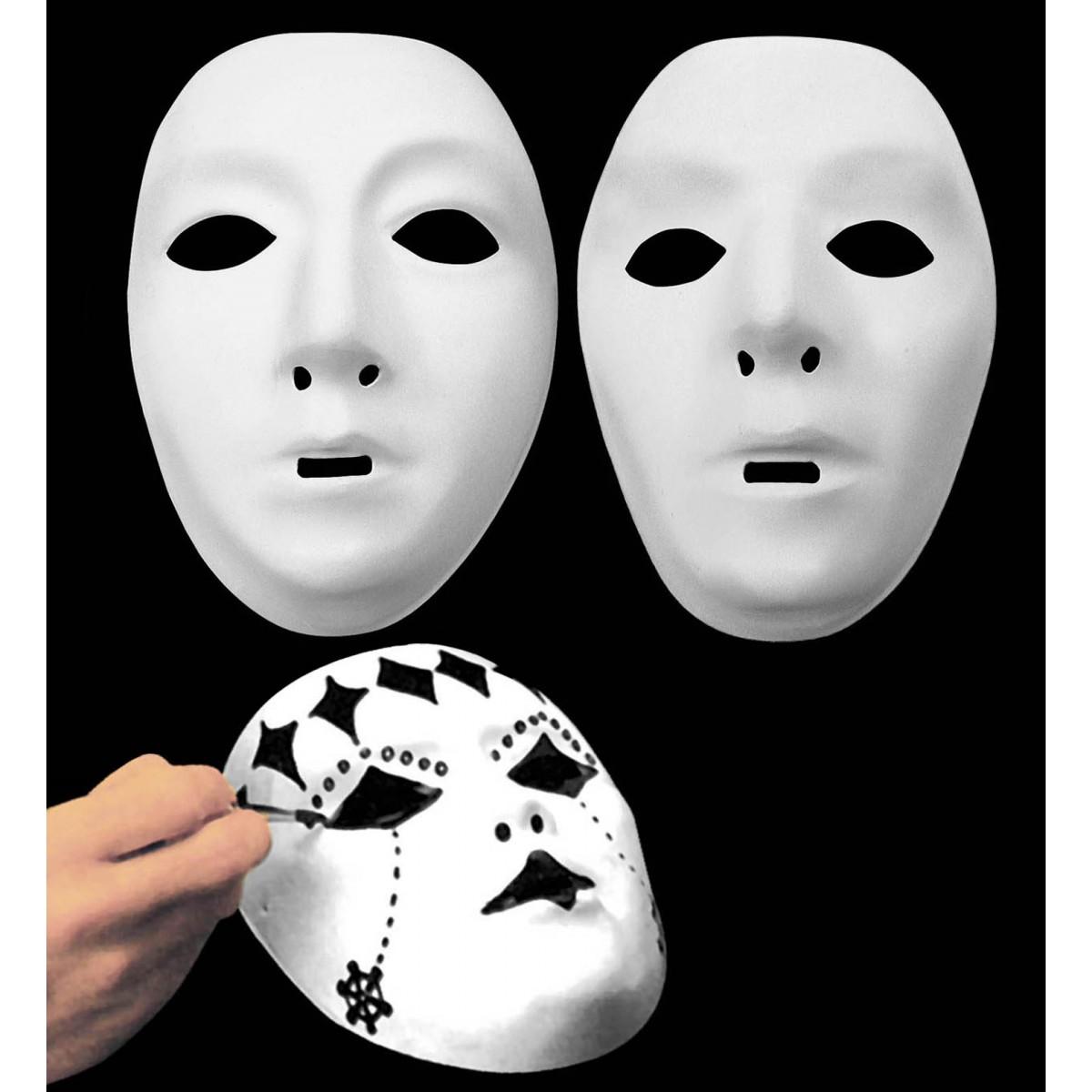 Maschera bianca neutra da dipingere