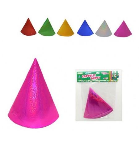 Set di 3 cappellini party olografici