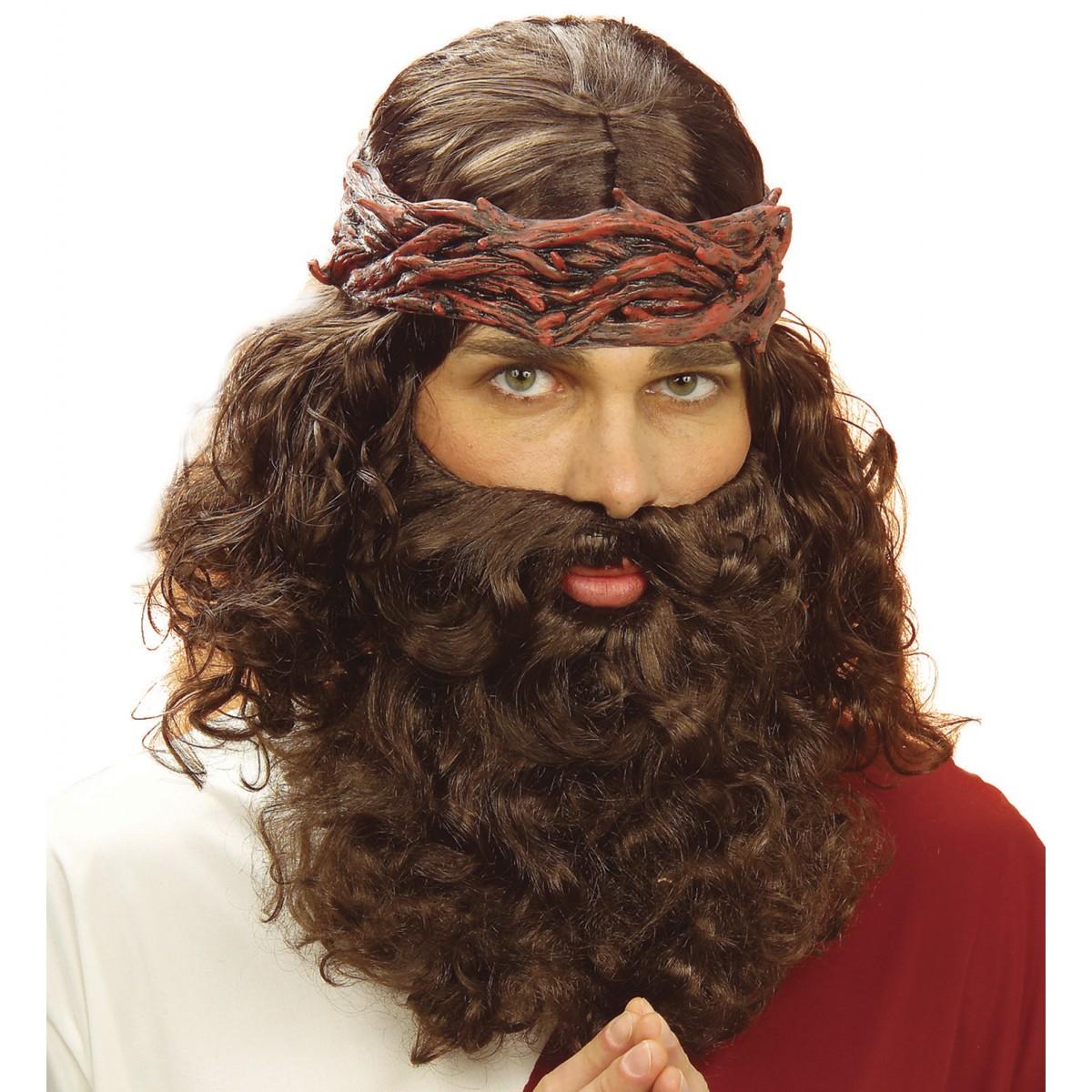Parrucca profeta con barba e baffi
