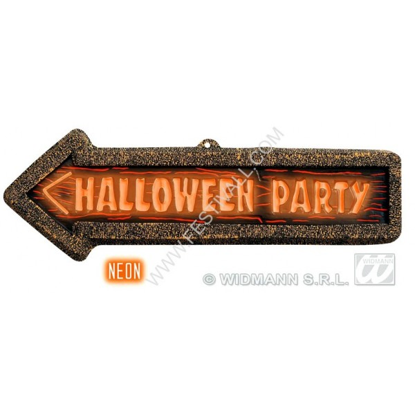 insegna halloween party