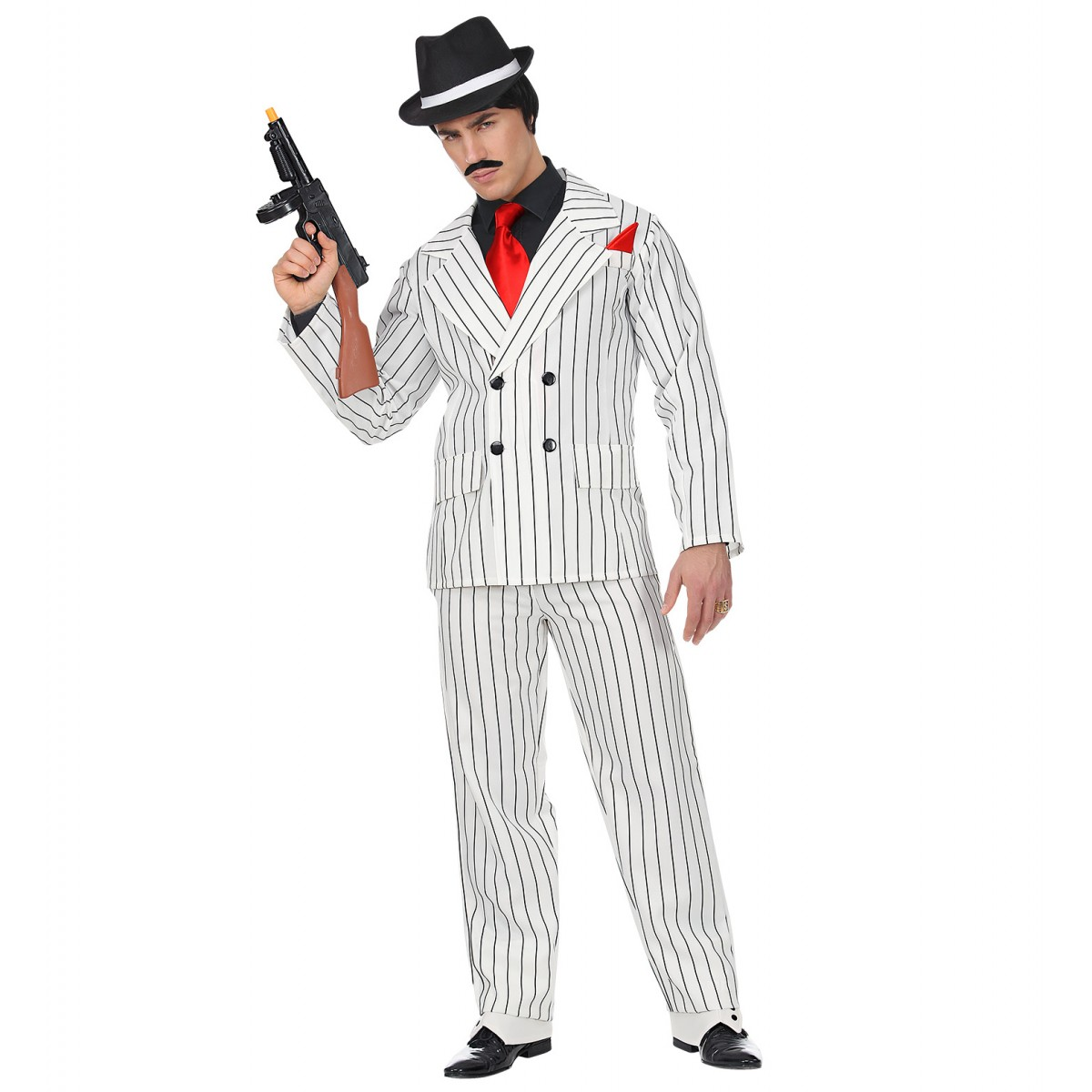Costume gangster bianco