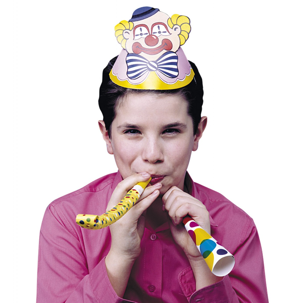 Confezione 12 cappellini clown
