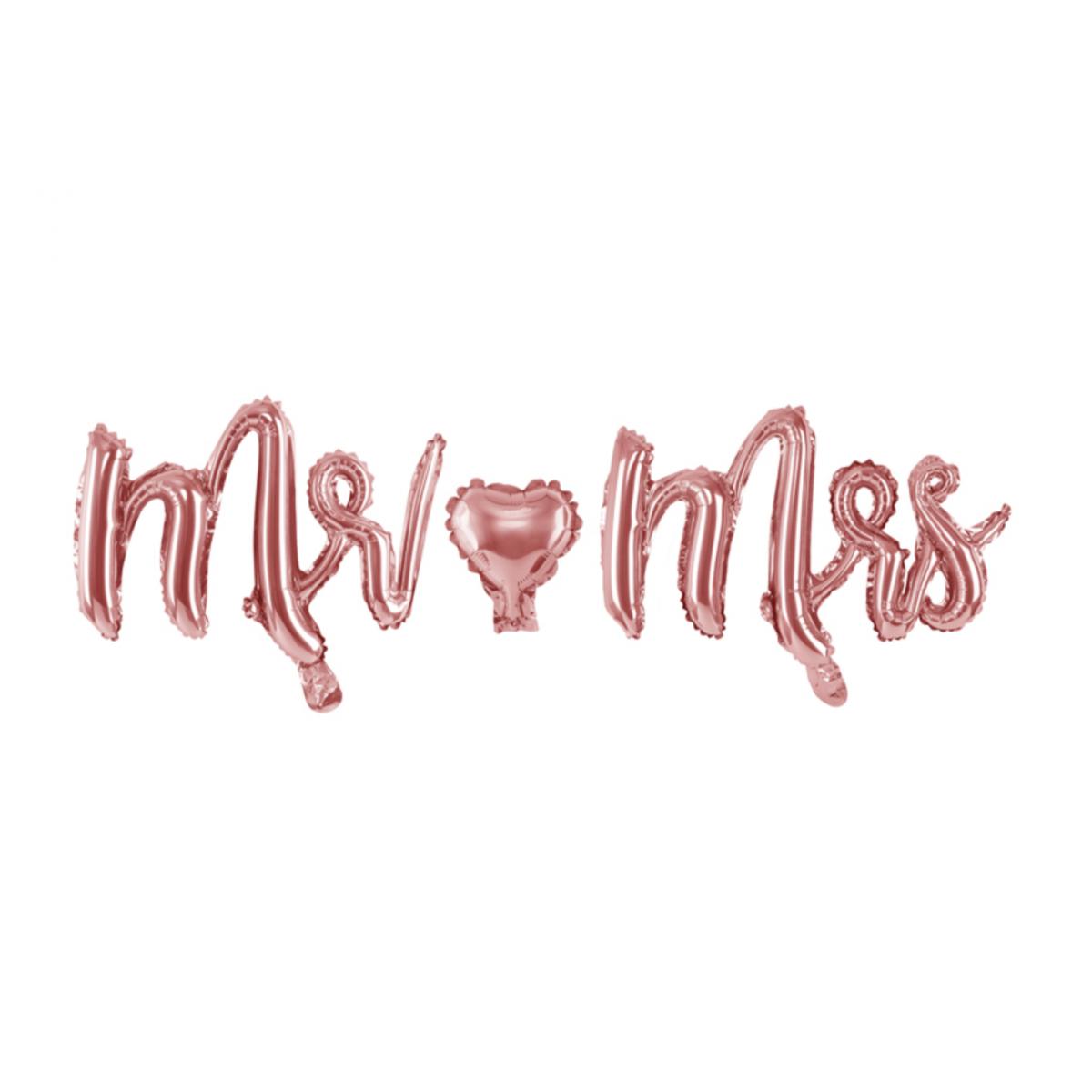 Scritta in foil Mr Mrs 69 x 125cm