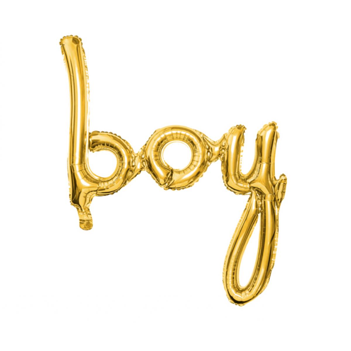 Scritta in foil Boy 63,5 x 74cm