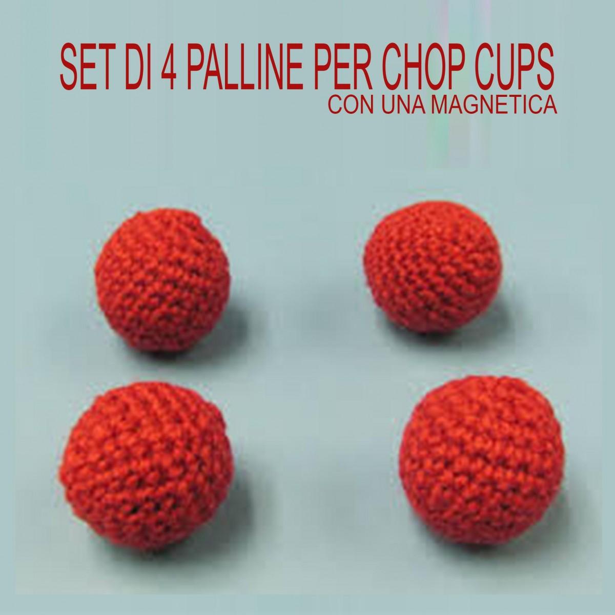 Set di 4 Palline per Chop Cups 2,5cm