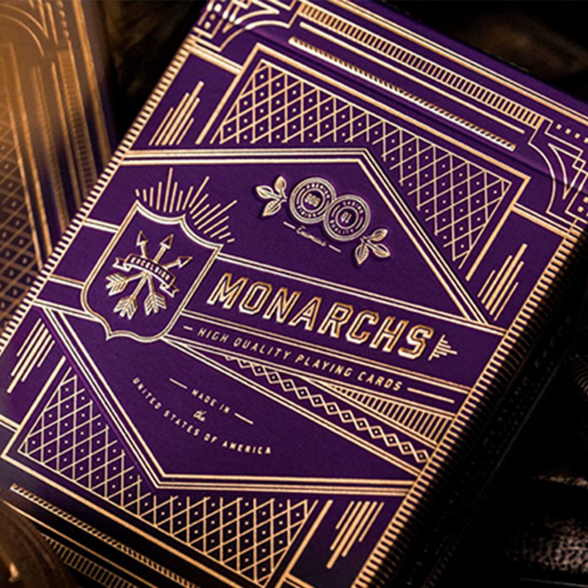 Monarch Royal edition Purple playing cards
