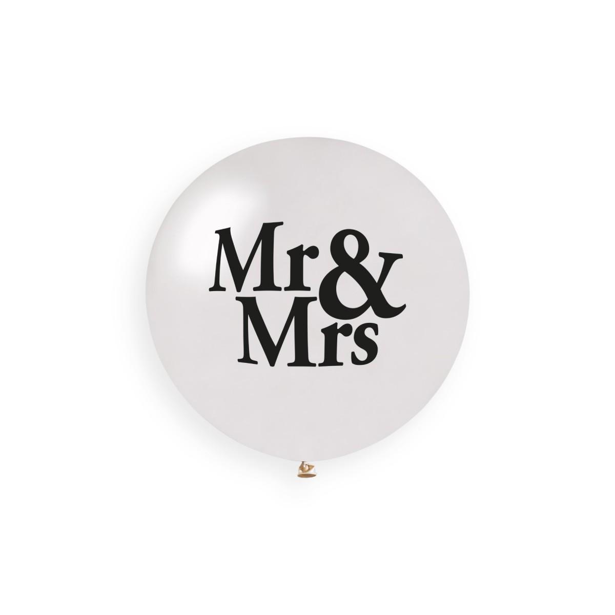 """Palloncino Mongolfiera Mr&Mrs 19""""/48cm."""