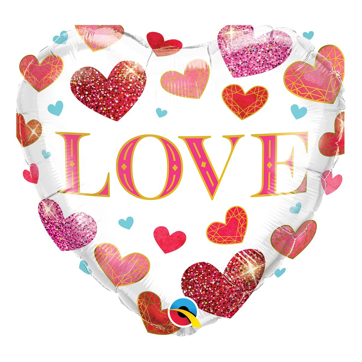 "Shape cuore 18""/45cm love jewel hearts"