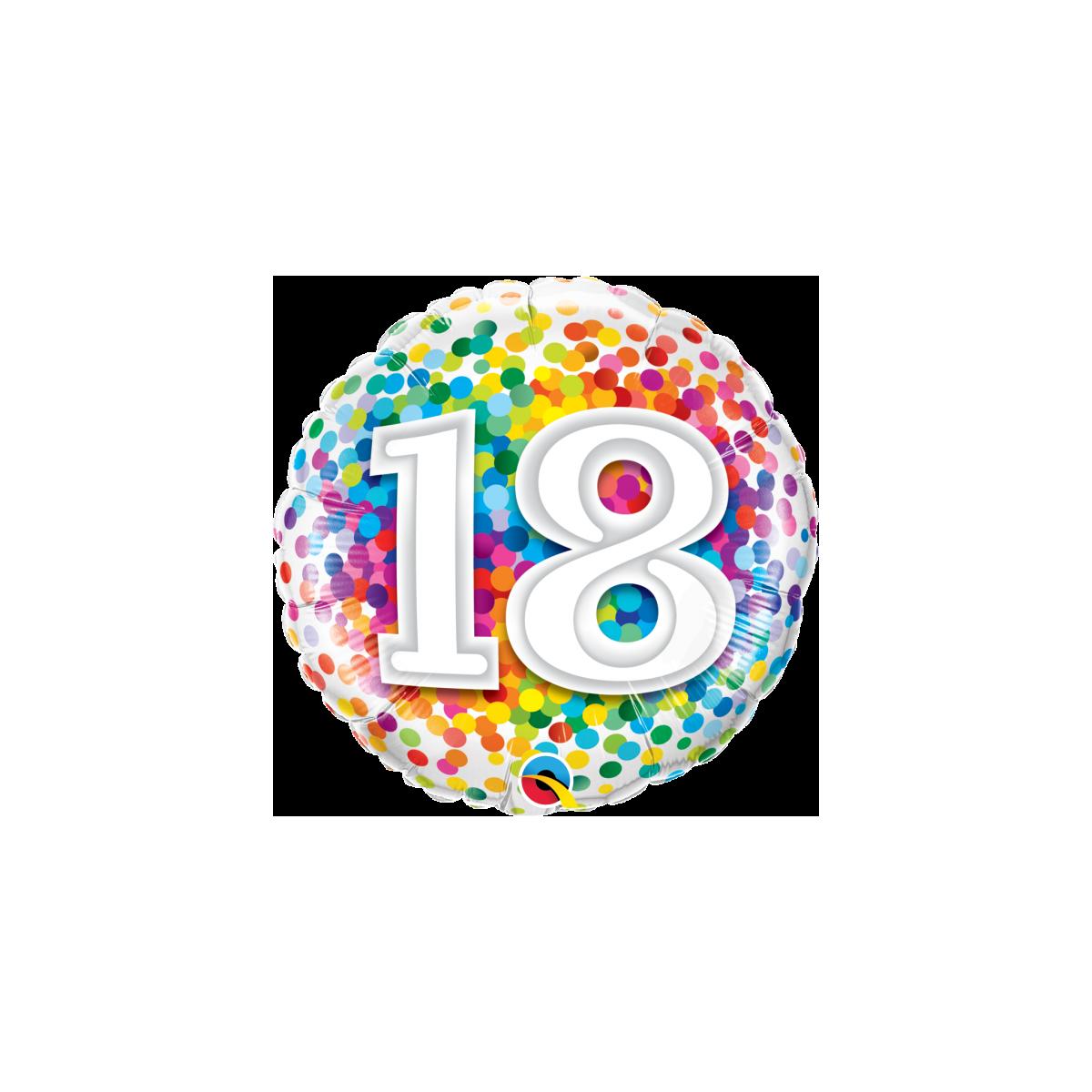 """Shape 18""""/ 45cm N°18 Rainbow Confetti"""