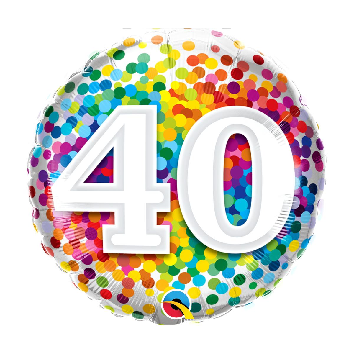 """Shape 18""""/ 45cm N°40 Rainbow Confetti"""