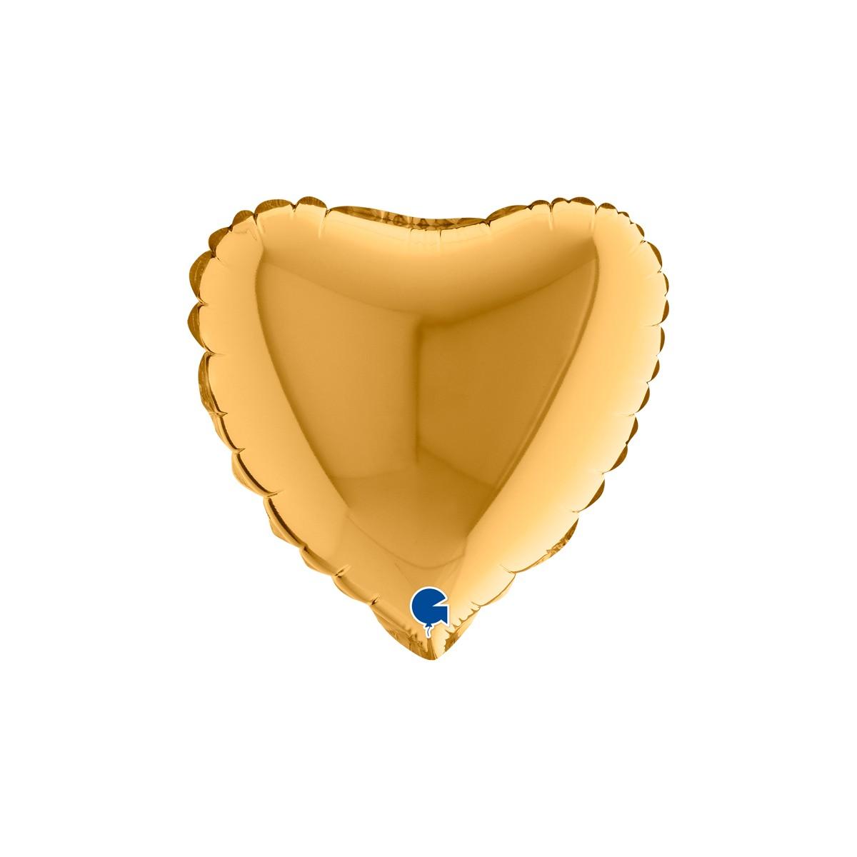 """Shape cuore medio 9""""/23 cm oro antico Grabo cf.10 pz"""
