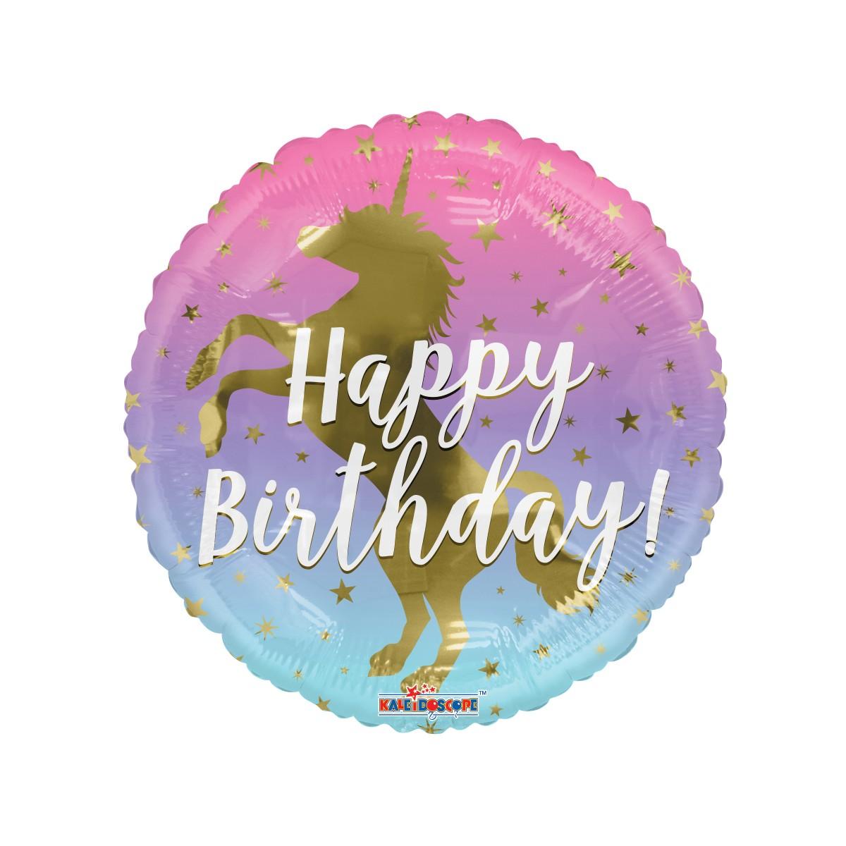 "Shape 18""/45cm Happy birthday gold Unicorn"